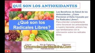 La clave de los Antioxidantes 1 de 2